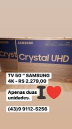 Smart TV Crystal UHD 4K LED 50? Samsung - 50TU8000 Wi-Fi Bluetooth HDR