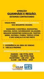 Vagas Para Representante Comercial em Guanhães e Região