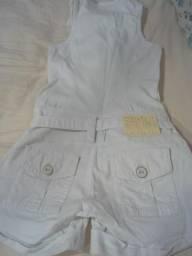 Vendo macaquinho jeans branco número 38 (ALL Jarreau)