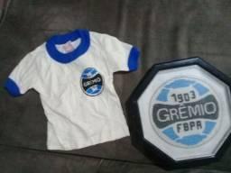 Camisa do grêmio infantil marca campeã novacor quadro bordado do grêmio