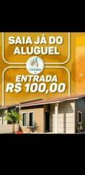 2-Casas no Village dos Pássaros, com 2quartos e entrada de R$100,00 assinando c/Caixa