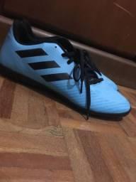 Chuteira Adidas Predator 19.3 TF Society Azul Claro