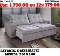 Liquida Londrina - Sofa Retratil e Reclinavel 2,50 - Direot da Fabrica