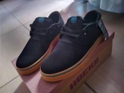 Tênis Skate Hocks Del Mar Black Mesh Preto Original