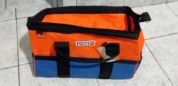 Bolsa para ferramentas em lona bolsos interno externo c Alça fundo reforçado