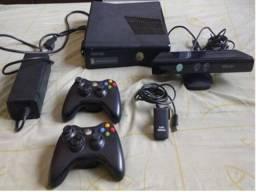 Xbox 360 + kinect + 2 controles e 8 jogos