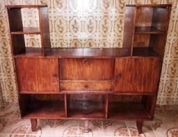 Estante Madeira Móvel Antigo Tv Livros Somente Retirada