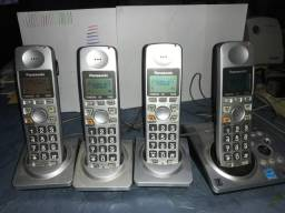Telefone fixo sem fio 4 aparelhos