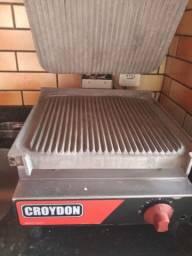 <br>Chapa Grill Estriada Croydon Sfse Elétrica 33x31cm
