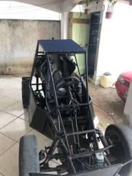 Kart Cross com ré caixa de gol