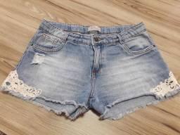 Shorts Jeans tamanho 14