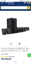 Home Theater LHB625M BluRay 3D 1000w 5.1 LG - Bivolt
