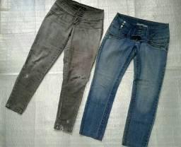 Duas calça jeans (TAM 38) 15 reais