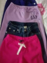 Lote de calças tm 6/7 anos gap cartes e jeans