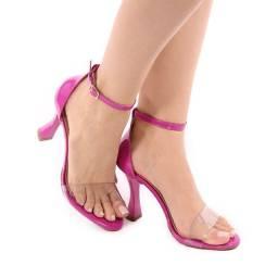 Sandália invisível salto taça