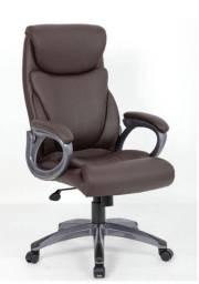 Cadeira giratória presidente marrom