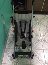 Carrinho De Bebê Pocket Multikids Baby Cinza