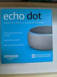 Echo Dot 3. Novo, lacrado. Aceito cartão