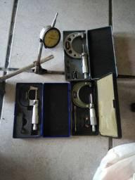 Micrometros digimess Base Magnética + Relógio Comparador Starret