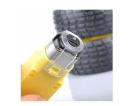 Roda + Pneu + Motor Dc 3 A 6v Com Redução Robotica Arduino