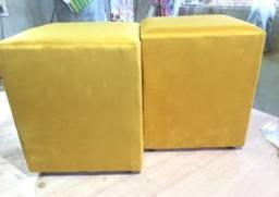 Puff tradicional quadradinho - r$ 44,99 - diversas cores - pronta entrega!