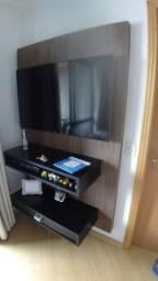 Painel rack para tv c nicho e gaveta