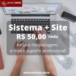 Kit Essencial - Sistema+Site+Hospedagem Web
