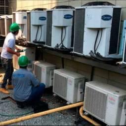 Instalação e manutenção em ar condicionado.