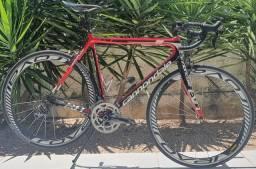 Bicicleta speed cannondale evo red 56cm