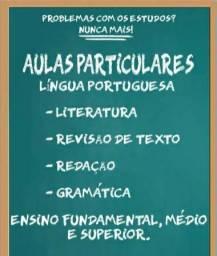 Aula particular de Língua portuguesa