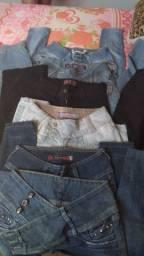 Várias calças do 36 ao 38 várias marcas FEMININO