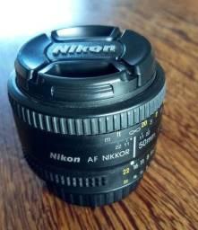 Lente Nikon AF Nikkor 50 mm 1.8 D