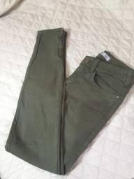 Calça Skinny Verde