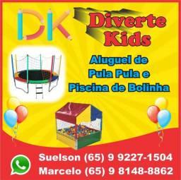 Promoção: pula-pula + Piscina de bolinhas por 150 reais!