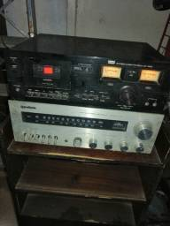 CCE tape deck e receiver gradiente