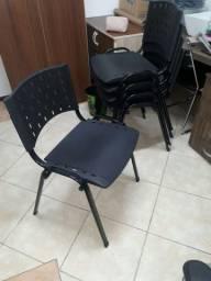 Cadeira multiuso preta 5 unidades