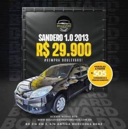 Título do anúncio: °Renault Sandero 2013 Completo ent. 1.000+ 48x 870