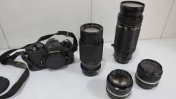 Câmera Nikon Fe + Lentes