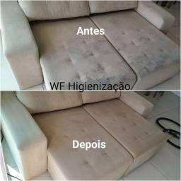 Higienização Impermeabilização Limpeza Lavagem a seco sofá