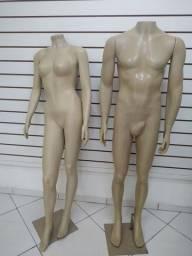 Manequim feminino e masculino