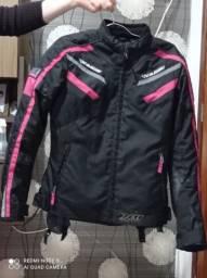 Jaqueta X11 Iron 2 Impermeável Nylon Motociclista Feminina - Rosa