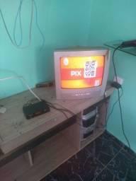 Vendo uma TV turbo  14 polegadas com conversor degital sem controle pegando tudo normal