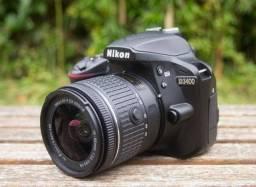 Nikon D3400 com lentes 18-105 e 35mm série g1.8