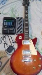 Guitarra e pedaleira de guitarra $1.000