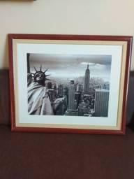 Vendo quadros de paisagem com moldura de madeira 58x48