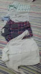 Camisa e blusa social de bebê