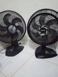 Vende se dois ventiladores pra retirar as peças