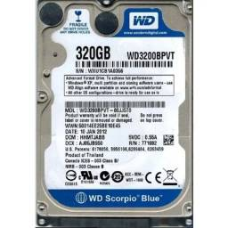 HD Notebook 320 Gb WD