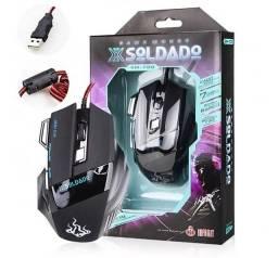 Mouse Gamer Laser 3200dpi Profissional Usb Led 7 Botões