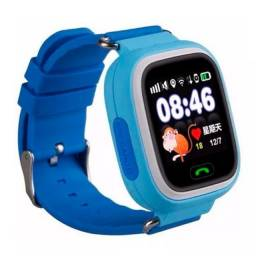 Relógio Smartwatch Q90 kids Gps Localizador de Crianças Rastreador Chamadas SOS - Azu